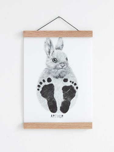 Lucy Coggle Personalised Baby Bunny Footprint Kit