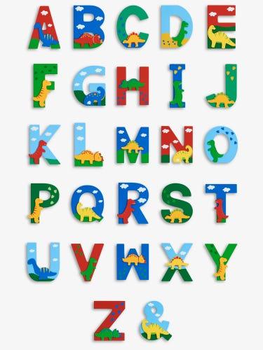 Dinosaur Wooden Letters