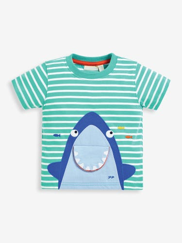 Kids' Aqua Shark Interactive T-Shirt