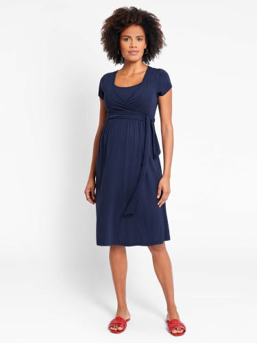 Maternity & Nursing Tie Dress