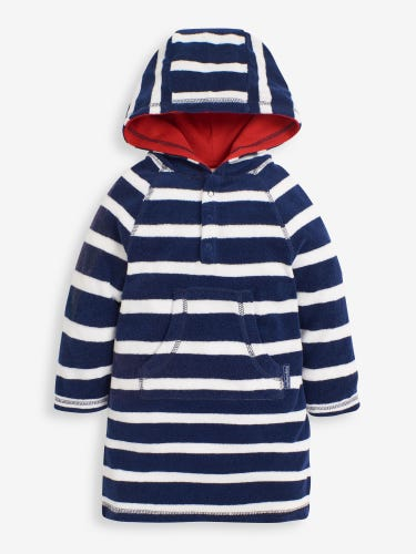 Stripe Hooded Towelling Pull-On