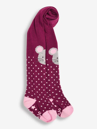 Girls' Mouse Cotton Rich Tights