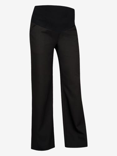 Black Wide Leg Maternity Trousers