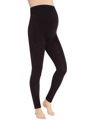 Black Bump Support Maternity Leggings