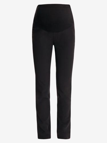 Black Tailored Straight Leg Maternity Trousers