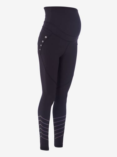 Black Maternity Activewear Reflective Leggings