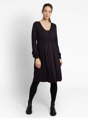 Bellow Sleeved Maternity & Nursing Dress