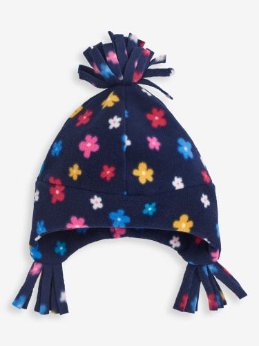 Blossom Print Polarfleece Pixie Hat