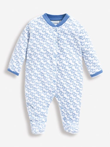 Little Elephants Baby Sleepsuit