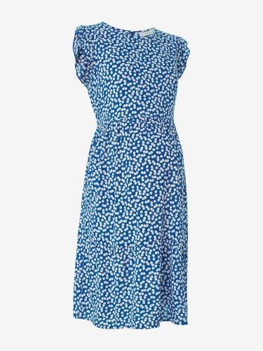 Ditsy Floral Flutter Sleeve Maternity Dress