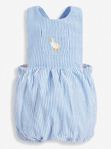 Blue Stripe Traditional Baby Romper