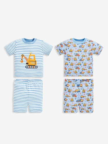 2-Pack Kids' Digger Short Jersey Pyjamas