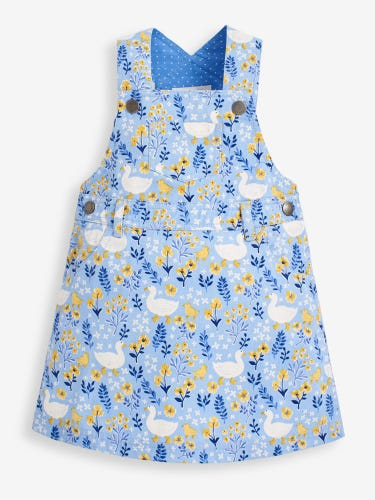 Girls' Blue Duck Dungaree Dress