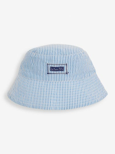 Kids' Blue Seersucker Stripe Sun Hat