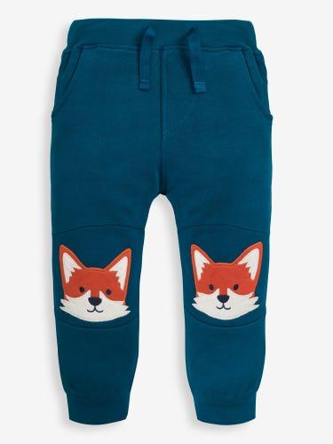 Blue Fox Appliqué Joggers