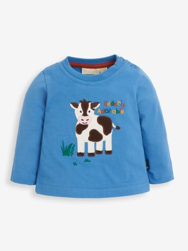 Blue Udderly Adorable Baby Top