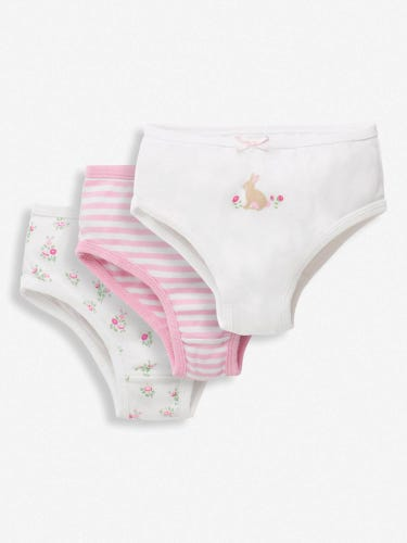 3-Pack Girls' Bunny Knickers