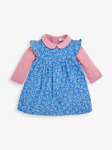 Girls' 2-Piece Bud Print Cord Dress Set