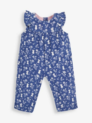 Pretty Mouse Cord Baby Dungarees