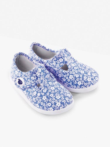 Girls' Blue Ditsy Summer Shoes