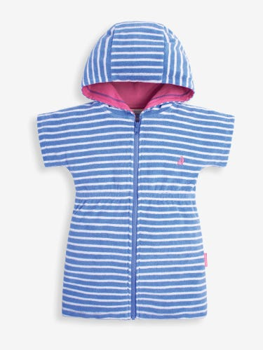Zip Front Hooded Towelling Dress