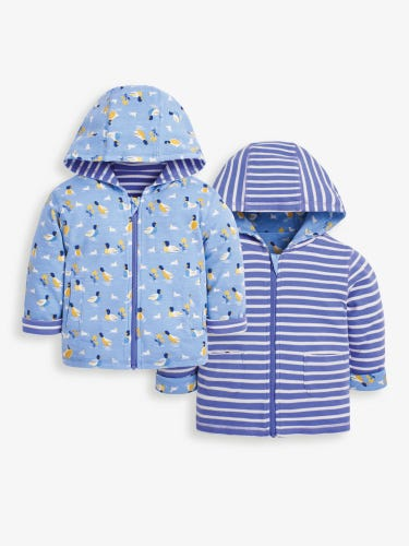 Kids' Cornflower Duck In My Pocket Reversible Hoodie
