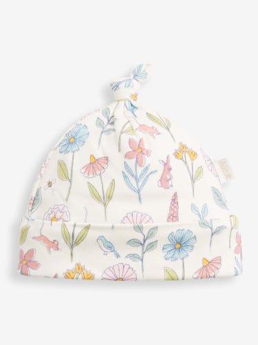Cream Meadow Baby Hat