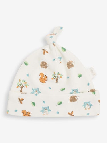 Cream Woodland Baby Hat