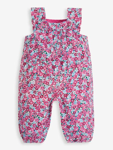 Winter Berry Floral Cord Baby Dungarees