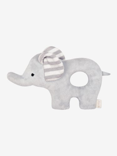 Grey Stripe Elephant Rattle
