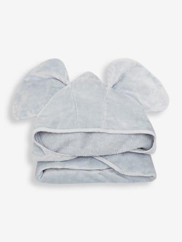 Grey Elephant Hooded Towel