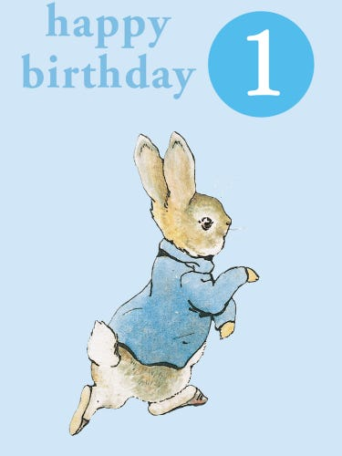 Peter Rabbit Happy 1st Birthday