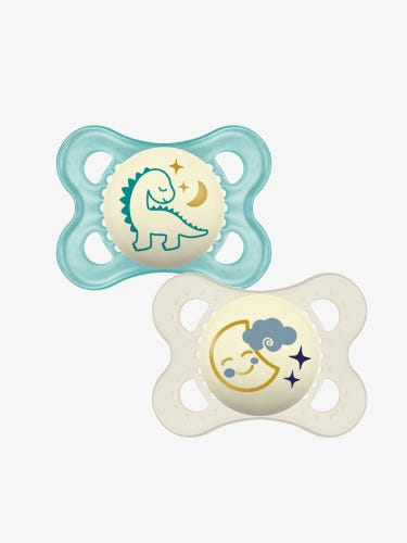 MAM Night Soother 0+ Months 2-Pack Pink