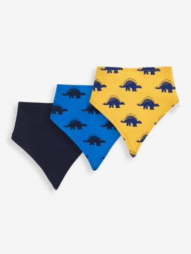 3-Pack Dinosaur Reversible Dribble Bibs