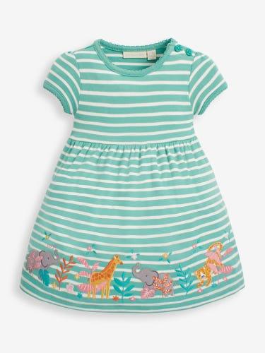 Girls' Duck Egg Safari Appliqué Dress