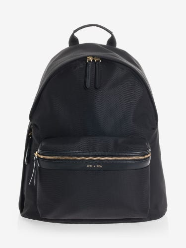 Jem + Bea Jamie Black Python Backpack