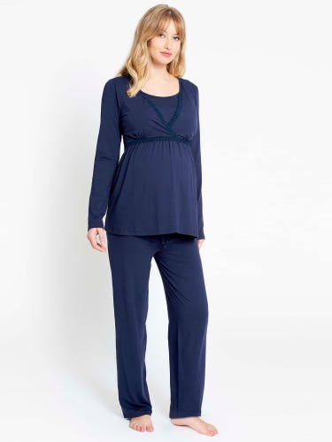 Navy Maternity Pyjama Bottoms
