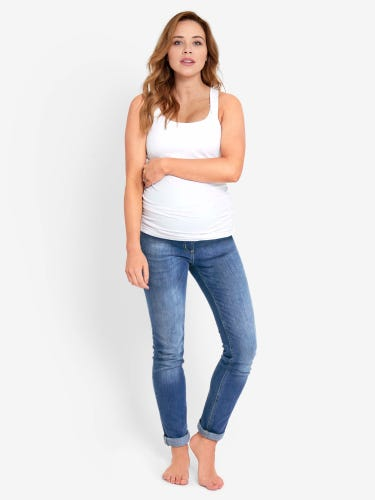 Light Wash Super Skinny Maternity Jeans
