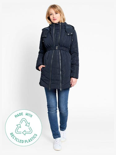 Navy 2-in-1 Maternity Puffer Jacket