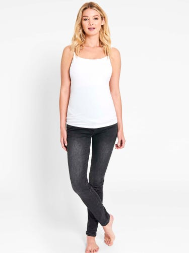Dark Grey Super Skinny Maternity Jeans