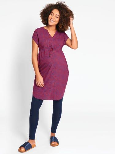 Animal Print Maternity Tunic Dress