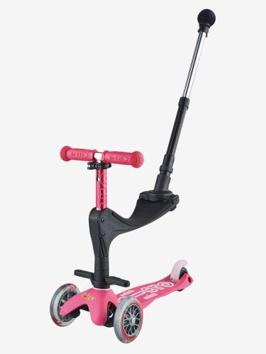 Mini Micro 3-in-1 Deluxe Push Along Scooter Pink