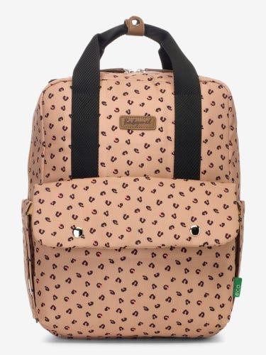 Babymel Georgi Eco Convertible Backpack - Caramel Leopard