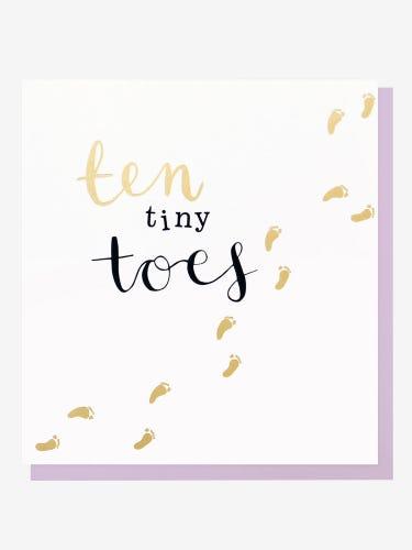 Caroline Gardner Ten Tiny Toes Card