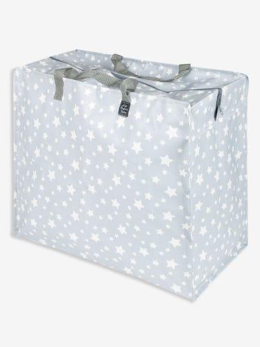 Grey Star Print Enormous Storage Bag