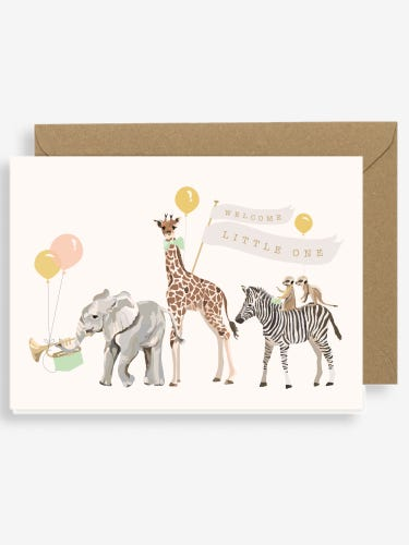 Sirocco Welcome Little One New Baby Card Savannah Parade