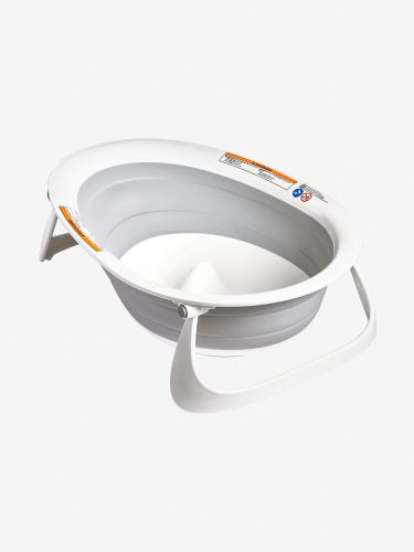 Boon NAKED™ 2-Position Collapsible Bathtub Grey