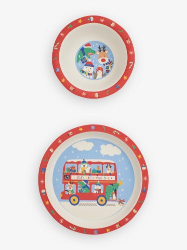 Christmas Plate and Bowl Set