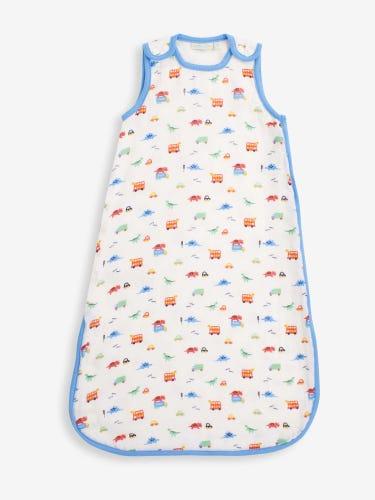 Dino Print Approx. 1 Tog Baby Muslin Sleeping Bag