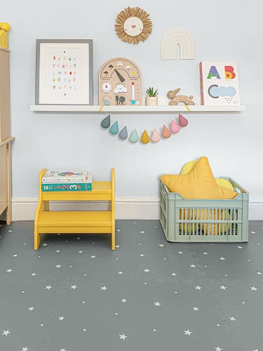 Gus and Beau Stars Playmat Grey